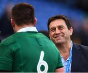 11 February 2017; IRFU Performance Director David Nucifora with CJ Stander following the RBS Six Nations Rugby Championship match between Italy and Ireland at the Stadio Olimpico in Rome, Italy. Photo by Stephen McCarthy/Sportsfile