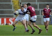11 February 2017; Diarmuid Connolly of St Vincent's in action against Christopher McKaigue of Slaughtneil during the AIB GAA Football All-Ireland Senior Club Championship semi-final match between Slaughtneil and St Vincent's at Páirc Esler in Newry. Photo by Oliver McVeigh/Sportsfile