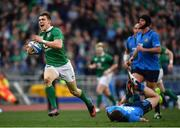 11 February 2017; Garry Ringrose of Ireland on his way to scoring his side's seventh try during the RBS Six Nations Rugby Championship match between Italy and Ireland at the Stadio Olimpico in Rome, Italy. Photo by Ramsey Cardy/Sportsfile