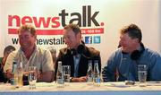 11 July 2011; Former Mayo footballer David Brady, centre, alongside former Rsocommon footballer Sheamus Hayden, left, and Shane Curran, right, during the Newstalk 106-108 fm's Off the Ball live broadcast of Ireland's most popular sports radio show 'Off the Ball' in Ballaghaderren on Monday, July 11th. The live broadcast is part of the 'Off the Ball Roadshow with Ulster Bank' which gives people an opportunity to see the hit show broadcast live from popular GAA haunts across the country throughout the 2011 All-Ireland Senior Championships. Ulster Bank is also celebrating its three-year extended sponsorship of the GAA Football All-Ireland Championship with the introduction of a major new club focused initiative, called 'Ulster Bank GAA Force'. The initiative will support local GAA clubs across the country by giving them the opportunity to refurbish and upgrade their facilities. For further information, checkout www.ulsterbank.com/gaa. Off the Ball Roadshow with Ulster Bank, Lir Café Bar, Market Street, Ballaghaderren, Co. Roscommon. Picture credit: Barry Cregg / SPORTSFILE