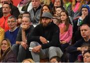 11 February 2017; Mayo footballer and EJ Sligo Allstars basketball player Aidan O'Shea, centre, watches the Basketball Ireland Super League game between Garvey's Tralee Warriors and Pyrobel Killester at Tralee Sports Complex in Tralee, Co. Kerry. Photo by Brendan Moran/Sportsfile