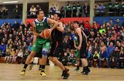 11 February 2017; Goran Pantovic of Garvey's Tralee Warriors in action against Alan Casey of Pyrobel Killester during the Basketball Ireland Super League game between Garvey's Tralee Warriors and Pyrobel Killester at Tralee Sports Complex in Tralee, Co. Kerry. Photo by Brendan Moran/Sportsfile