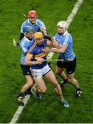 11 February 2017; Pádraic Maher of Tipperary in action against Dublin players, left to right, Oisín O'Rorke, Ryan O'Dwyer, and Dómhnaill Fox during the Allianz Hurling League Division 1A Round 1 match between Dublin and Tipperary at Croke Park in Dublin. Photo by Daire Brennan/Sportsfile