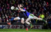 11 February 2017; Andy Moran of Mayo in action against Mark Griffin of Kerry during the Allianz Football League Division 1 Round 2 match between Kerry and Mayo at Austin Stack Park in Tralee, Co. Kerry. Photo by Brendan Moran/Sportsfile