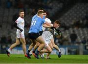 11 February 2017; Conor Meyler of Tyrone in action against Paul Mannion of Dublin during the Allianz Football League Division 1 Round 2 match between Dublin and Tyrone at Croke Park in Dublin. Photo by Daire Brennan/Sportsfile
