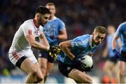 11 February 2017; Paul Mannion of Dublin in action against Pádraig Hempsey of Tyrone during the Allianz Football League Division 1 Round 2 match between Dublin and Tyrone at Croke Park in Dublin. Photo by Daire Brennan/Sportsfile