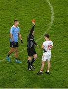 11 February 2017; Mark Bradley of Tyrone receives a red card from referee Joe McQuillan during the Allianz Football League Division 1 Round 2 match between Dublin and Tyrone at Croke Park in Dublin. Photo by Daire Brennan/Sportsfile