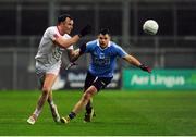 11 February 2017; Cathal McCarron of Tyrone in action against Kevin McManamon of Dublin during the Allianz Football League Division 1 Round 2 match between Dublin and Tyrone at Croke Park in Dublin. Photo by Sam Barnes/Sportsfile