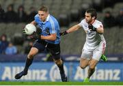 11 February 2017; Eoghan O'Gara of Dublin in action against Ronan McNamee of Tyrone during the Allianz Football League Division 1 Round 2 match between Dublin and Tyrone at Croke Park in Dublin. Photo by Sam Barnes/Sportsfile