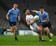 11 February 2017; Pádraig Hampsey of Tyrone in action against Eric Lownes, left, and John Small of Dublin during the Allianz Football League Division 1 Round 2 match between Dublin and Tyrone at Croke Park in Dublin. Photo by Ray McManus/Sportsfile