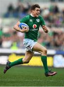 11 February 2017; Garry Ringrose of Ireland on his way to scoring his side's seventh try during the RBS Six Nations Rugby Championship match between Italy and Ireland at the Stadio Olimpico in Rome, Italy. Photo by Stephen McCarthy/Sportsfile