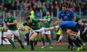 11 February 2017; Garry Ringrose of Ireland is tackled by Sergio Parisse of Italy during the RBS Six Nations Rugby Championship match between Italy and Ireland at the Stadio Olimpico in Rome, Italy. Photo by Ramsey Cardy/Sportsfile