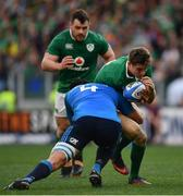 11 February 2017; Garry Ringrose of Ireland is tackled by Marco Fuser of Italy during the RBS Six Nations Rugby Championship match between Italy and Ireland at the Stadio Olimpico in Rome, Italy. Photo by Ramsey Cardy/Sportsfile