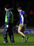 11 February 2017; Killian Young of Kerry leaves the pitch with an injury during the first half during the Allianz Football League Division 1 Round 2 match between Kerry and Mayo at Austin Stack Park in Tralee, Co. Kerry.  Photo by Brendan Moran/Sportsfile