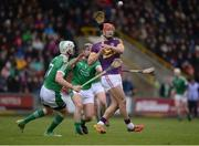 12 February 2017; Lee Chin of Wexford in action against Séamus Hickey, left, and James Ryan of Limerick during the Allianz Hurling League Division 1B Round 1 game between Wexford and Limerick at Innovate Wexford Park in Wexford. Photo by Daire Brennan/Sportsfile