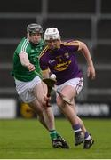 12 February 2017; Aaron Murdock of Wexford in action against Paul Browne of Limerick during the Allianz Hurling League Division 1B Round 1 game between Wexford and Limerick at Innovate Wexford Park in Wexford. Photo by Daire Brennan/Sportsfile