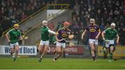 12 February 2017; Lee Chin of Wexford in action against Cian Lynch of Limerick during the Allianz Hurling League Division 1B Round 1 game between Wexford and Limerick at Innovate Wexford Park in Wexford. Photo by Daire Brennan/Sportsfile