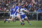 12 February 2017; Neil McAdam of Monaghan in action against James McEnroe of Cavan during the Allianz Football League Division 1 Round 2 game between Monaghan and Cavan at St. Mary's Park in Castleblayney, Co. Monaghan. Photo by Philip Fitzpatrick/Sportsfile