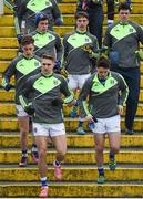 12 February 2017; The Cavan team during the warm up at the Allianz Football League Division 1 Round 2 game between Monaghan and Cavan at St. Mary's Park in Castleblayney, Co. Monaghan. Photo by Philip Fitzpatrick/Sportsfile