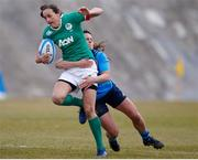 12 February 2017; Hannah Tyrrell of Ireland is tackled by Mariagrazia Cioffi of Italy during the RBS Women's Six Nations Rugby Championship game between Italy and Ireland at Stadio Tommaso Fattori in L'Aquila, Italy. Photo by Roberto Bregani/Sportsfile