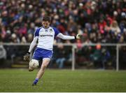 12 February 2017; Conor McManus of Monaghan in action during the Allianz Football League Division 1 Round 2 game between Monaghan and Cavan at St. Mary's Park in Castleblayney, Co. Monaghan. Photo by Philip Fitzpatrick/Sportsfile