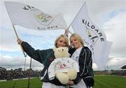 16 July 2011; Twins Emma, left, and Anne O'Brien, from Naas, Co. Kildare, at the game. GAA Football All-Ireland Senior Championship Qualifier, Round 3, Meath v Kildare, Pairc Tailteann, Navan, Co. Meath. Picture credit: Paul Mohan / SPORTSFILE