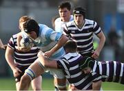 13 February 2017; Cian Reilly of Blackrock College in action against Harry O'Neill and Jack Cooke of Terenure College during the Blackrock College and Terenure College Bank of Ireland Leinster Schools Senior Cup second round match at Donnybrook Stadium, Donnybrook, in Dublin. Photo by David Maher/Sportsfile