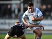 13 February 2017; Giuseppe Coyne of Blackrock College in action against Adam La Grue of Terenure College during the Blackrock College and Terenure College Bank of Ireland Leinster Schools Senior Cup second round match at Donnybrook Stadium, Donnybrook, in Dublin. Photo by David Maher/Sportsfile