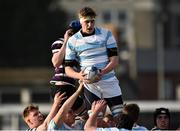 13 February 2017; Charlie Ryan of Blackrock College claims the ball in the line out against Terenure College during the Blackrock College and Terenure College Bank of Ireland Leinster Schools Senior Cup second round match at Donnybrook Stadium, Donnybrook, in Dublin. Photo by David Maher/Sportsfile
