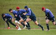 13 February 2017; Munster players, from left, Bill Johnston, Conor Oliver, Abrie Griesel, Tyler Bleyendaal and Ronan O'Mahony in action during squad training at the University of Limerick, in Limerick. Photo by Diarmuid Greene/Sportsfile