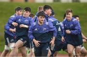 13 February 2017; Munster players including Bill Johnston, centre, during squad training at the University of Limerick, in Limerick. Photo by Diarmuid Greene/Sportsfile