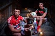 14 February 2017; In attendance at the launch of the 2017 EirGrid GAA Football Under 21 All-Ireland Championship is Sean O'Donoghue, left, of Cork and Brian Reape of Mayo. EirGrid, the state-owned company that manages and develops Ireland's electricity grid, enters its third year of sponsorship of this competition. It has a programme of activity, including the introduction of the EirGrid player of the provincial championship, planned to promote the Championship and recognise the talent on display at this grade. #EirGridGAA Photo by Brendan Moran/Sportsfile