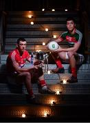 14 February 2017; In attendance at the launch of the 2017 EirGrid GAA Football Under 21 All-Ireland Championship, are Sean O'Donoghue of Cork and Brian Reape of Mayo. EirGrid, the state-owned company that manages and develops Ireland's electricity grid, enters its third year of sponsorship of this competition. It has a programme of activity, including the introduction of the EirGrid player of the provincial championship, planned to promote the Championship and recognise the talent on display at this grade. #EirGridGAA Photo by Brendan Moran/Sportsfile