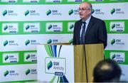 14 February 2017; Fran Gavin, Competition Director, Football Association of Ireland, speaking at the SSE Airtricity League Launch 2017 at the Aviva Stadium in Lansdowne Road in Dublin. Photo by David Maher/Sportsfile
