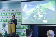 14 February 2017; Ronan Brady, Head of Marketing, SSE Airtricity, in attendance at the SSE Airtricity League Launch 2017 at the Aviva Stadium in Lansdowne Road in Dublin. Photo by David Maher/Sportsfile