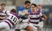 14 February 2017; Harry McSweeney of St. Mary's College is tackled by Thomas Monaghan of Clongowes Wood College during the Bank of Ireland Leinster Schools Senior Cup second round match between Clongowes Wood College and St Mary's College at Donnybrook Stadium in Donnybrook, Dublin. Photo by Daire Brennan/Sportsfile