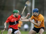 14 February 2017; Alan Cadogan of University College Cork in action against Eoghan O'Donnell of DCU Dóchas Éireann during the Independent.ie HE GAA Fitzgibbon Cup Quarter-Final match between University College Cork and DCU Dóchas Éireann at Mardyke in Cork. Photo by Eóin Noonan/Sportsfile