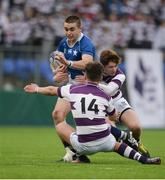 14 February 2017; Craig Kennedy of St Mary's College is tackled by Reinis Lemess, 14, and Joe Carroll of Clongowes Wood College during the Bank of Ireland Leinster Schools Senior Cup second round match between Clongowes Wood College and St Mary's College at Donnybrook Stadium in Donnybrook, Dublin. Photo by Daire Brennan/Sportsfile