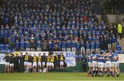 14 February 2017; St Mary's College players and supporters sing their school anthem ahead of the Bank of Ireland Leinster Schools Senior Cup second round match between Clongowes Wood College and St Mary's College at Donnybrook Stadium in Donnybrook, Dublin. Photo by Daire Brennan/Sportsfile