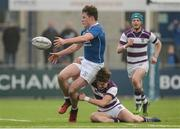 14 February 2017; Myles Carey of St Mary's College is tackled by Tim O'Brien of Clongowes Wood College during the Bank of Ireland Leinster Schools Senior Cup second round match between Clongowes Wood College and St Mary's College at Donnybrook Stadium in Donnybrook, Dublin. Photo by Daire Brennan/Sportsfile