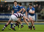 14 February 2017; Ciarán O'Meara of St Mary's College is tackled by Seán McCrohan of Clongowes Wood College during the Bank of Ireland Leinster Schools Senior Cup second round match between Clongowes Wood College and St Mary's College at Donnybrook Stadium in Donnybrook, Dublin. Photo by Daire Brennan/Sportsfile
