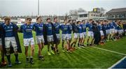 14 February 2017; St Mary's College players sing their school anthem with their supporters after the Bank of Ireland Leinster Schools Senior Cup second round match between Clongowes Wood College and St Mary's College at Donnybrook Stadium in Donnybrook, Dublin. Photo by Daire Brennan/Sportsfile