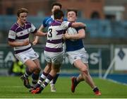 14 February 2017; Myles Carey of St Mary's College is tackled by Ronan Hannon of Clongowes Wood College during the Bank of Ireland Leinster Schools Senior Cup second round match between Clongowes Wood College and St Mary's College at Donnybrook Stadium in Donnybrook, Dublin. Photo by Daire Brennan/Sportsfile