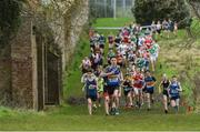 15 February 2017; A general view of the Junior Boys 3000m race during the Irish Life Health Leinster Schools Cross Country at Santry Demesne in Santry, Co. Dublin. Photo by David Maher/Sportsfile