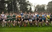 15 February 2017; A general view of the Boys Senior final 6000m race during the Irish Life Health Leinster Schools Cross Country at Santry Demesne in Santry, Co. Dublin. Photo by David Maher/Sportsfile
