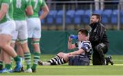 15 February 2017; James Brandon of Cistercian College Roscrea is treated for an injury during the Bank of Ireland Leinster Schools Senior Cup second round match between Cistercian College Roscrea and Gonzaga College at Donnybrook Stadium in Donnybrook, Dublin. Photo by Piaras Ó Mídheach/Sportsfile