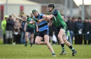 15 February 2017; James Madden of UCD in action against Diarmaid Byrnes of LIT during the Independent.ie HE GAA Fitzgibbon Cup Quarter-Final between Limerick IT and University College Dublin at Limerick IT in Limerick. Photo by Diarmuid Greene/Sportsfile