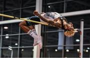 15 February 2017; Jamal Wilson of Bahamas in action during Senior Men's High Jump the AIT International Athletics Grand Prix at the AIT International Arena in Athlone, Co. Westmeath. Photo by Sam Barnes/Sportsfile