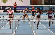 15 February 2017; Athletes from left, Elin Westerlund of Sweden, Jacquelyn Coward of USA, Sharika Nelvis of USA and Gemma Bennett of Great Britain competing in the Senior Women's 60m Hurdles during the AIT International Athletics Grand Prix at the AIT International Arena in Athlone, Co. Westmeath. Photo by Sam Barnes/Sportsfile