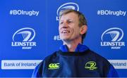 16 February 2017; Leinster rugby head coach Leo Cullen during a press conference at the RDS Arena, Ballsbridge, Dublin. Photo by Brendan Moran/Sportsfile